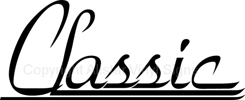 Classic Car Stickers Vinyl Window Decals And Lettering