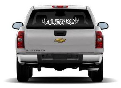 COUNTRY BOY Cowboy Car Stickers Country Western Vinyl Window - Country boy decals for trucks