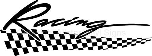 Racing stickers