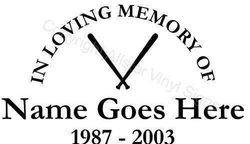 Sports Memorial Vinyl Window Decals In Loving Memory Of Car - Window decals for sports
