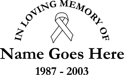In loving memory wall decals highest quality pictures