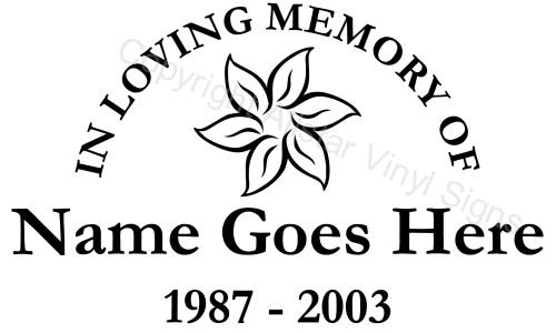 In Loving Memory Car Window Decals Custom Memorial Vinyl Stickers Infant Loss Cancer Awareness