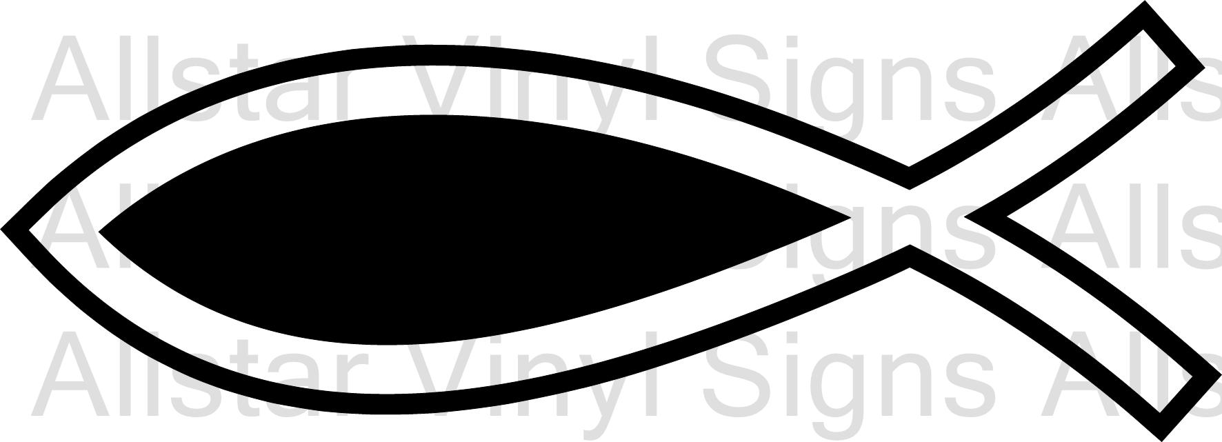 New religious car stickers added vinyl lettering wall art christian fish vinyl decal biocorpaavc