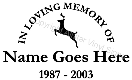 In Loving Memory Car Decals >> Hunting and Fishing Memorial Vinyl Window Decals - In Loving Memory of Car/Truck Stickers