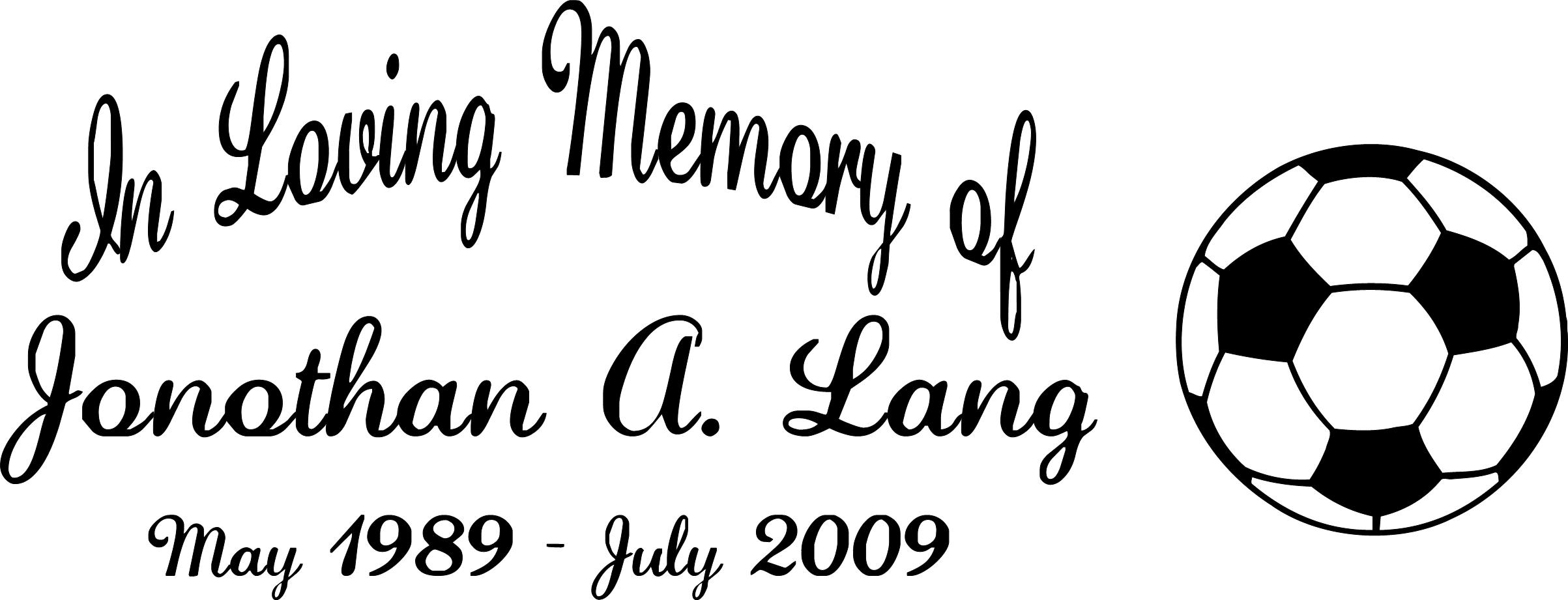 In Loving Memory Of Sports Decal Memorial Car Stickers Window - Window decals in memory of
