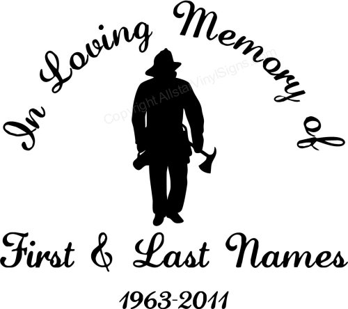 Memorial Vinyl Window Decals In Loving Memory Of Car