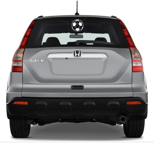 Soccer Ball School And Team Sports Car Window Stickers Vinyl - Window clings for car sports
