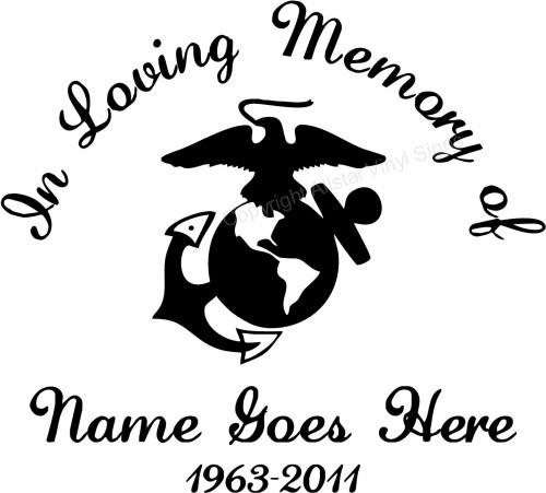 Military Memorial Vinyl Window Decals In Loving Memory Of Car - Military window decals for cars