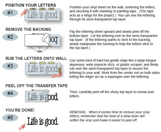 Vinyl Application Instructions LDS Vinyl Decals LLC Vinyl - Transfer tape for vinyl decals