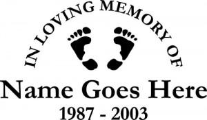 New In Loving Memory Of Car Window Decals Vinyl Lettering - Window decals in memory of