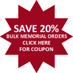 Save 20% On Bulk Orders of Memorial Decals
