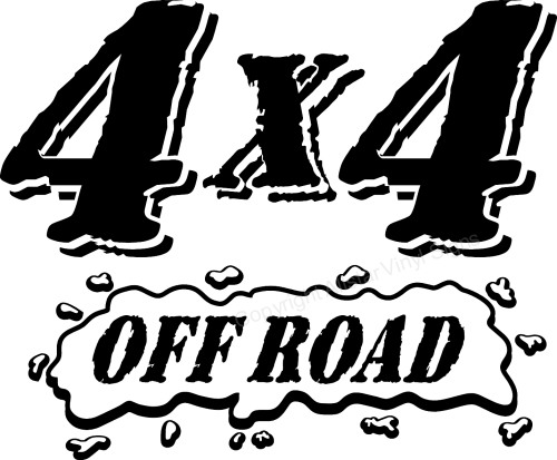 4x4 4wd 4 Wheel Drive Off Road Car Stickers Vinyl