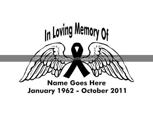 In Loving Memory Car Decals >> In Loving Memory Car Window Decals - Custom Memorial Vinyl ...