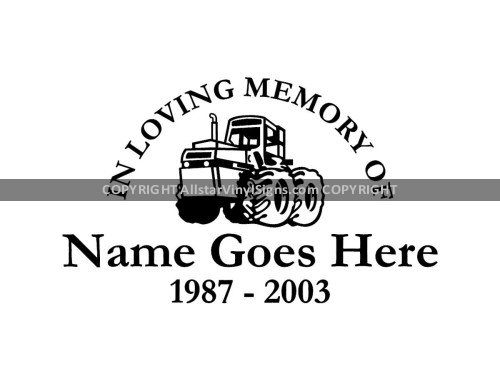 In loving memory of tractor