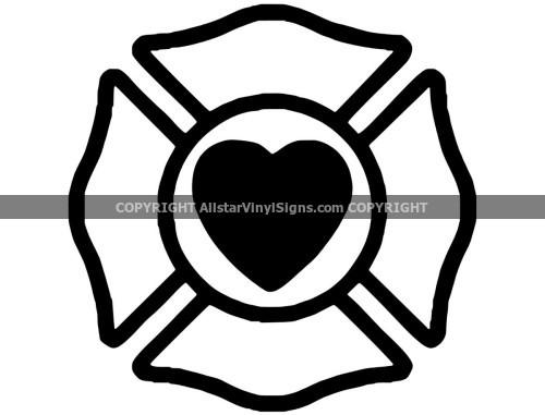 Firefighter Car Stickers Vinyl Window Decals For Firemen