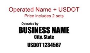 Usdot Numbers For Trucks Semi Truck Door Lettering Gvw