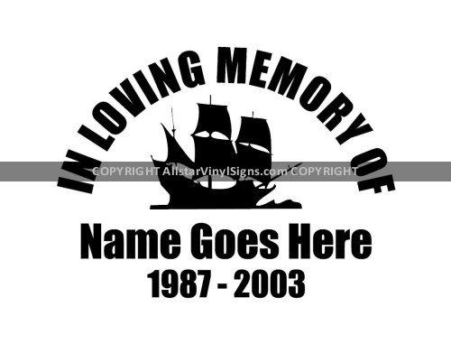 Nautical Memorial Vinyl Window Decals Marine In Loving